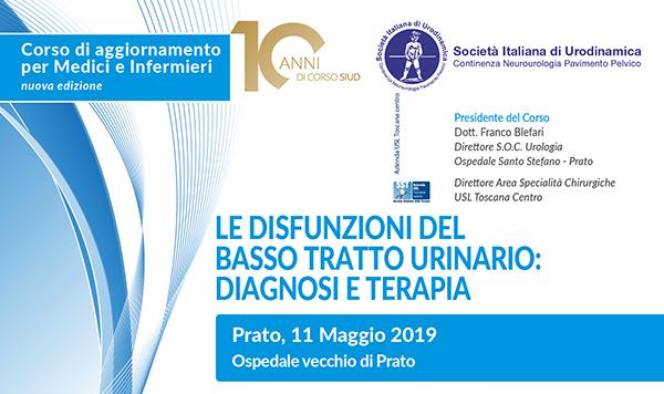 Le disfunzioni del basso tratto urinario Prato 2019